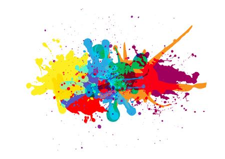 Ilustración de vector splatter color background design. illustration vector design - Imagen libre de derechos