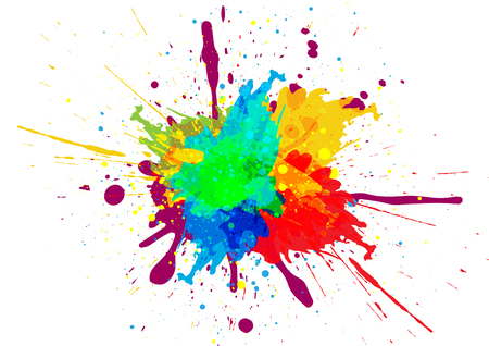 Illustration pour Colorful paint splatter design - image libre de droit
