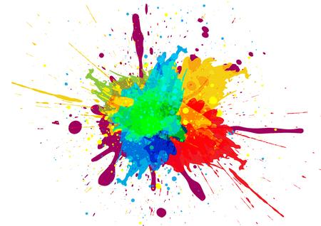 Ilustración de Colorful paint splatter design - Imagen libre de derechos