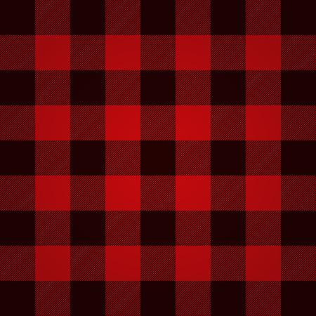 Illustration pour Lumberjack plaid pattern vector - image libre de droit