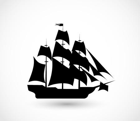 Illustration pour Ship icon vector illustration - image libre de droit