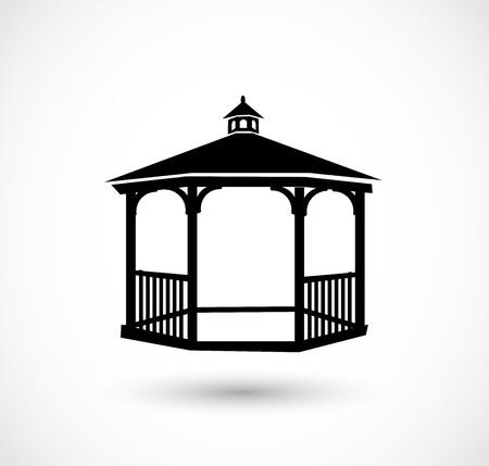 Ilustración de Gazebo icon Vector illustration. - Imagen libre de derechos