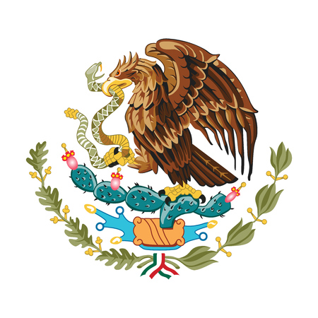 Illustration for Mexican eagle vector - Royalty Free Image