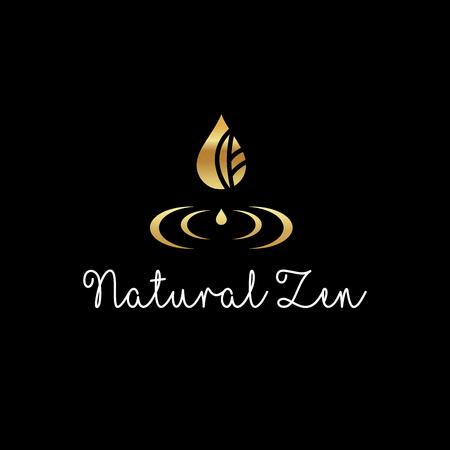 Illustration pour Beautiful elegant logo - Natural Zen vector - image libre de droit