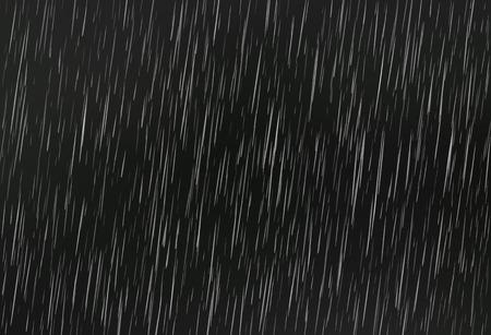 Rain on black. Vector rain texture. Abstract vector background.
