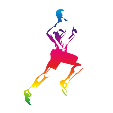 Photo for Colorful runner - Royalty Free Image