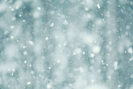 Photo pour Snow falling abstract with a shallow depth of field for a dreamy look. - image libre de droit