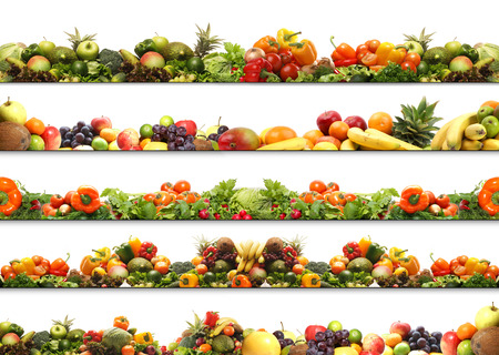 Photo for 5 great nutrition textures made of many different elements - Royalty Free Image