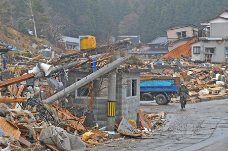 Photo for The outbreak of the unprecedented Great East Japan Earthquake and tsunami - Royalty Free Image
