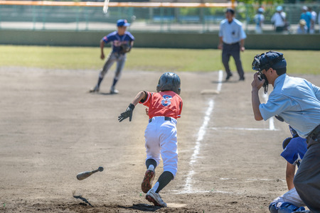 Foto de Little league baseball game - Imagen libre de derechos