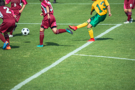 Photo pour Scenery of the women's soccer game - image libre de droit
