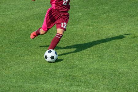 Photo pour Scenery of the women's soccer game - image libre de droit