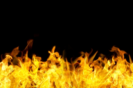 Photo for fire flames border in seamless horizontal style, use for banner. - Royalty Free Image