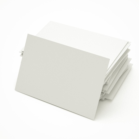 blank business cards in stack, to replace with own image.