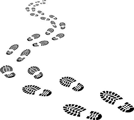 Ilustración de receding footprints - Imagen libre de derechos