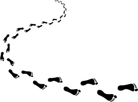 Ilustración de Incoming footprints - Imagen libre de derechos