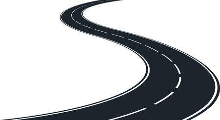 Ilustración de isolated winding road - clip art illustration - Imagen libre de derechos