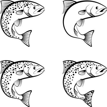 Ilustración de salmon and trout - clip art illustration - Imagen libre de derechos