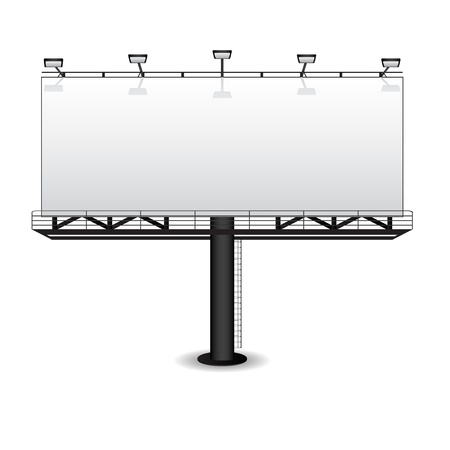 Illustration pour Outdoor advertising billboard isolated on white - image libre de droit
