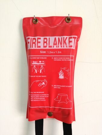 Photo pour Fire Blanket displayed in laboratory - image libre de droit