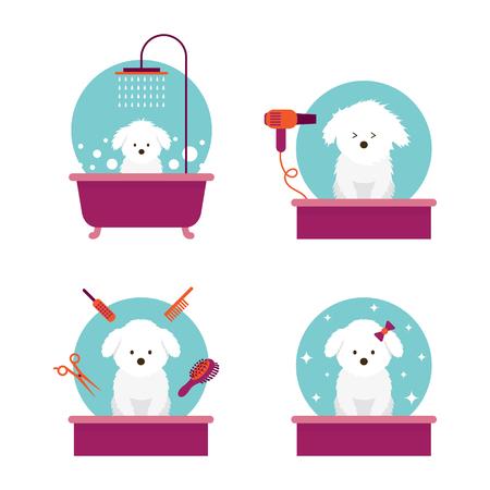 Illustrazione per Dog in Grooming Shop or Salon - Immagini Royalty Free
