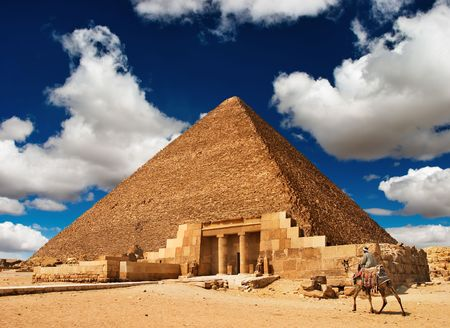 Photo for Ancient egyptian pyramid in Giza  - Royalty Free Image