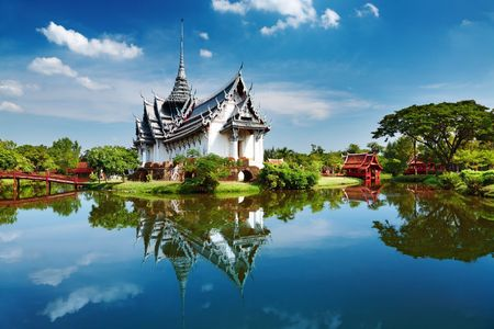Foto de Sanphet Prasat Palace, Ancient City, Bangkok, Thailand - Imagen libre de derechos
