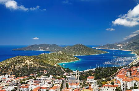 Photo pour Town Kas, Mediterranean Coast, Turkey - image libre de droit