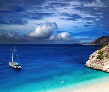 Foto de Beach Kaputas, Mediterranean Coast, Turkey - Imagen libre de derechos