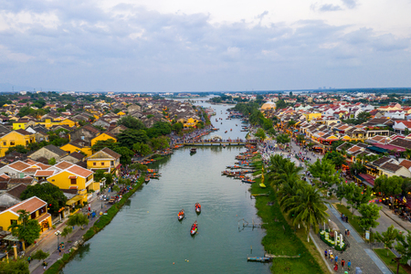 Photo for Hoi An ancient town in the peaceful day - Royalty Free Image