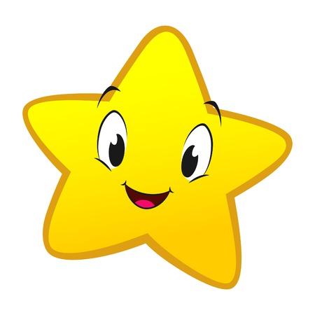 Illustration pour Vector illustration of cartoon star for design element - image libre de droit