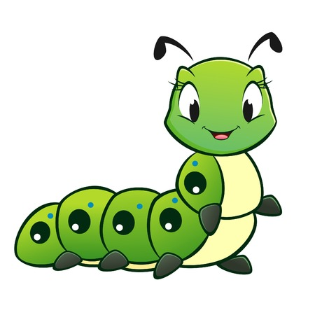 Photo for Cartoon vector cute caterpillar  - Royalty Free Image