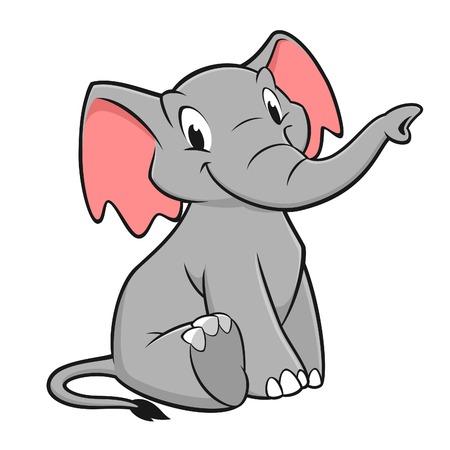 Illustration pour Vector illustration of a funny elephant for design element - image libre de droit
