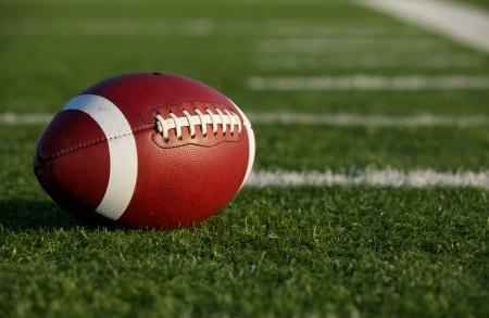 Foto de Collegiate Football on the Field with room for copy - Imagen libre de derechos