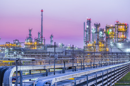 Photo for Beautiful of industrial petroleum plant on evening twilight - Royalty Free Image