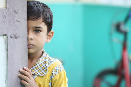 Photo for Portrait of Indian Little Boy - Royalty Free Image