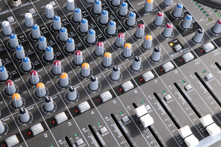 Photo for New modern amplifier with latest control and channels - Royalty Free Image