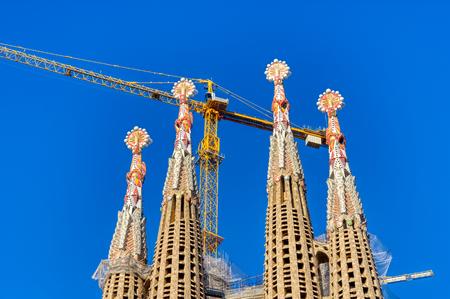 Foto de The Sagrada Familia  the cathedral designed by Gaudi, Barcelona, Spain - Imagen libre de derechos