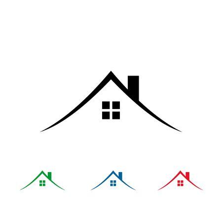 Illustration for Simple real estate logo, house logo design. - Royalty Free Image