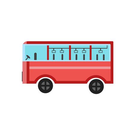 Ilustración de Bus icon vector isolated on white background for your web and mobile app design, Bus logo concept - Imagen libre de derechos