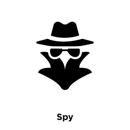 Illustrazione per Spy icon vector isolated on white background, logo concept of Spy sign on transparent background, filled black symbol - Immagini Royalty Free