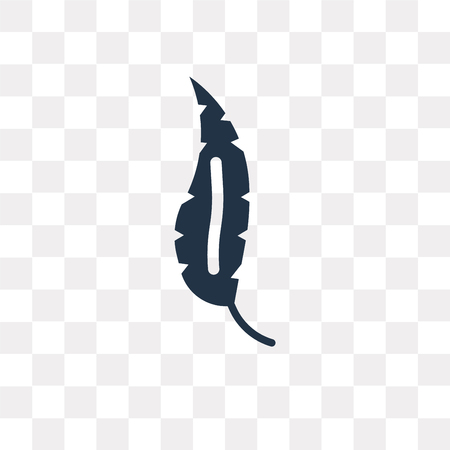Illustration pour Feather vector icon isolated on transparent background, Feather transparency concept can be used web and mobile - image libre de droit