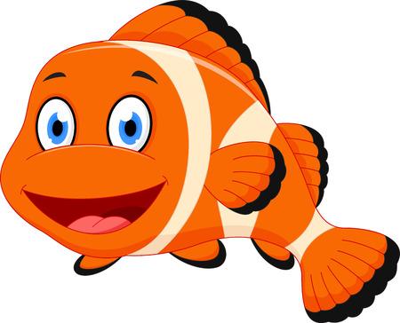 Illustration pour Cute clown fish cartoon - image libre de droit