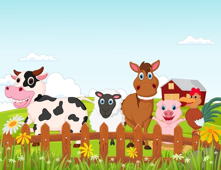 Illustration for Farm animal cartoon - Royalty Free Image
