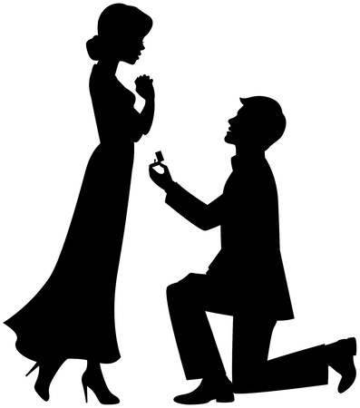 Illustration for Marriage proposal - Royalty Free Image