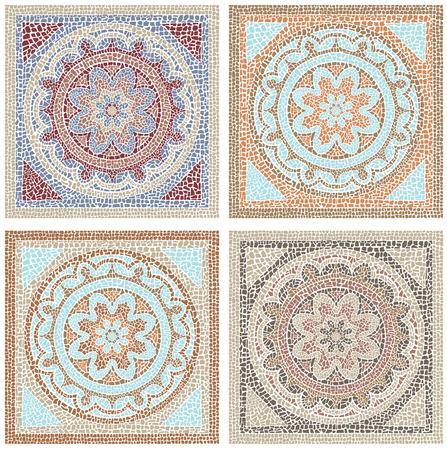 Illustration for Stock vector illustration seamless pattern antique mosaic - Royalty Free Image