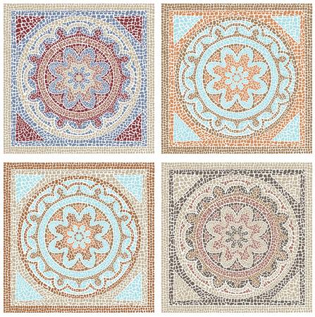 Illustration pour Stock vector illustration seamless pattern antique mosaic - image libre de droit
