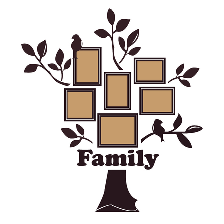 Illustration for Family tree with birds - Royalty Free Image