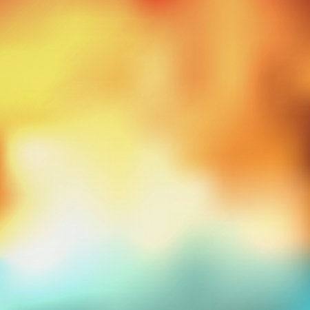 Ilustración de abstract background with orange, yellow, white and blue colors - Imagen libre de derechos
