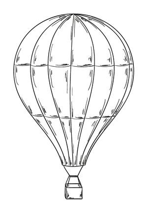 Illustration pour sketch of the balloon on white background - image libre de droit
